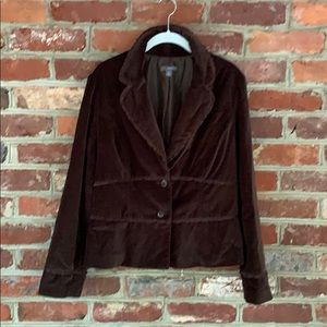 Brown Velvet Blazer